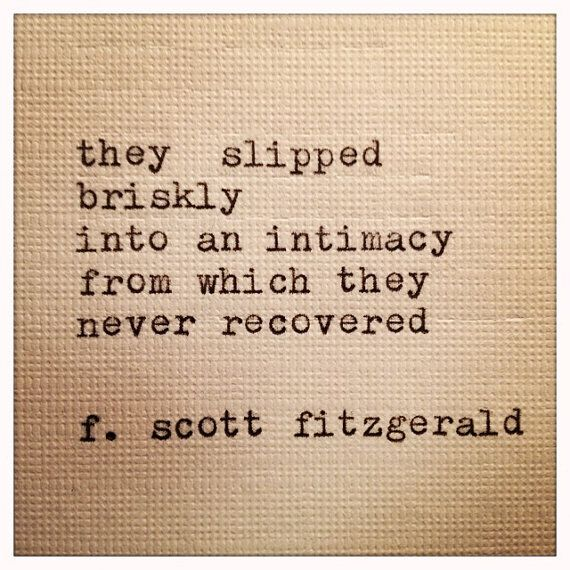 Fitzgerald's Intimacy